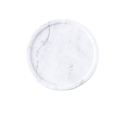 Vosarea marmor schmuck platte teller schmuckstück ablage runde dessertteller snack teller mehrzweckablage für zuhause party, weiß