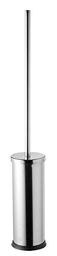 Bisk Toilettenbürste und Halterung, Edelstahl, mit 41cm langem Griff, 10,2x10,2x68,5cm