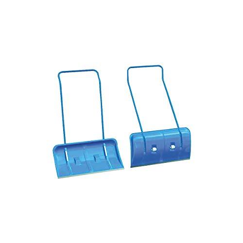 Certeo Schneeschieber mit Rädern   Blau   Schneeschaufel Schneeräumer Schneeschipper Schneeschippe Schaufel Schieber