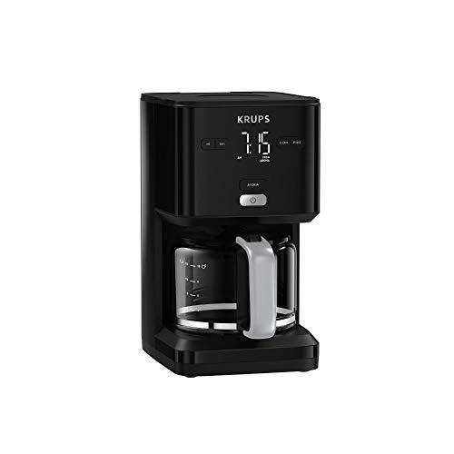 Krups KM6008 Smart'n Light Filterkaffeemaschine   intuitives Display   1,25 L Fassungsvermögen für bis zu 15 Tassen Kaffee   Auto-Off-Funktion   Anti-Tropf System   24-Stunden-Timer   Schwarz