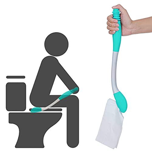 Miyobing WC-Hilfsmittel,Langer Handgriff Erreichen Komfort Wischer Halter Toilettenpapier Gewebe-Griff-selbst Abwischen Hilfshelfer Entworfen für die älteren und schwangeren Frauen