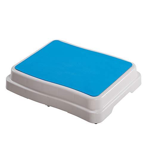 UPP 10 cm Badezimmer-Stufe stapelbar & erweiterbar | Belastbar bis 189 kg | Tritthocker für Senioren o. Kinder | Anti-Rutsch Trittstufe fürs Bad | Hocker für Badewanne & Dusche [1 STK.]*