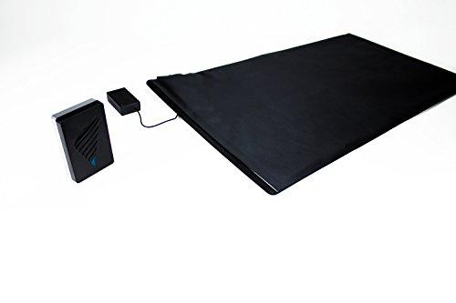 Pratoline Funk-Alarmtrittmatte XL - Pflegehilfe - mit Vibrationsempfänger - 140cm x 40cm - Demenz Sturzprävention - Wegläuferschutz