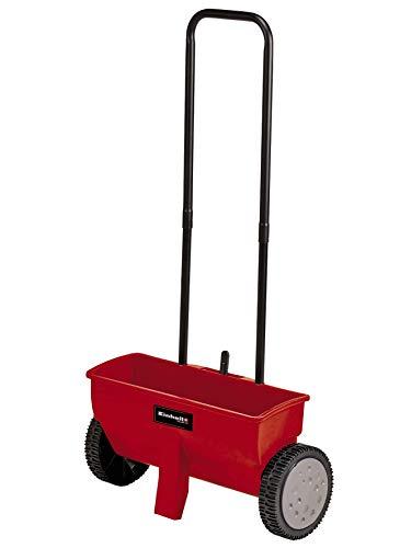 Einhell Streuwagen GC-SR 12 (12 l, 45 cm Streubreite, Doppelschubbügel, beidseitiger Schnappverschluss, Stellhebel, korrosionsfeste Walze, Gehäuse aus bruchfestem Kunststoff)