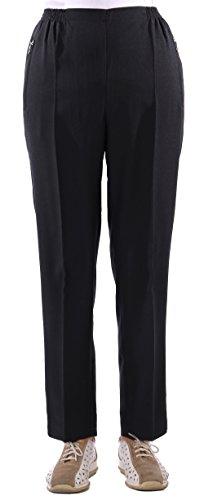 Eitex Damen Seniorenhose Schlupfhose mit Gummizug Kurzgröße ideal für pflegebedürftige Omas einfach anzuziehen und super pflegeleicht (44/46, schwarz)