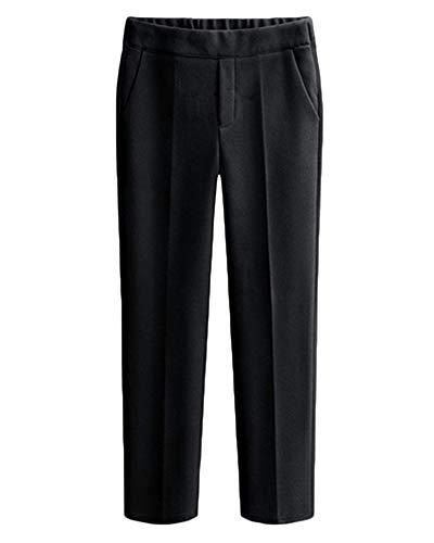 DianShaoA Damen Locker-Hosen Elegant Seniorenhose Schlupfhose Jogginghose Freizeithose Mit Taschen Schwarz 4XL