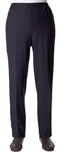 Seniorenmode24 Damen Viskose Seniorenhose Schlupfhose Größe 36/38 bis 56/58 mit Gummizug in Kurzgröße dehnbar ideal für Rollstuhlfahrer einfaches an- und ausziehen (Blau, 40/42)
