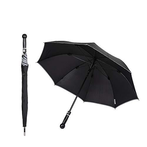 Sicherheitsschirm mit Videokurs auf DVD | Extrem stabil, Wind + Sturm sicher | Security Regenschirm für Männer, Frauen & Senioren | Selbstverteidigung Selbstbehauptung | 90cm Lang