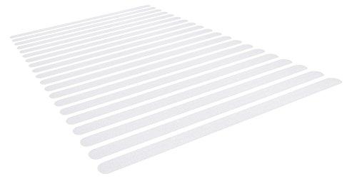 Beilheimer 20x Anti Rutsch Streifen für Treppen und Bad. Transparente und Selbstklebende Antirutsch Klebestreifen für Dusche und Badewanne