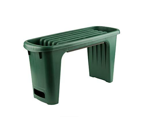 Kniebank und Gartenbank + Polsterung - Pflanzhilfe für Ihren Garten - Mit Werkzeugfach für Ihre Gartenscheren, Kleinteile oder Setzlinge - Ideal für eine komfortable Gartenarbeit ohne Knieschmerzen