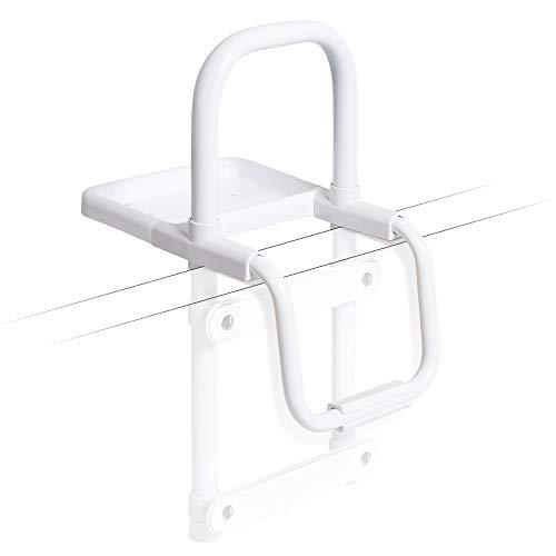 Weinberger Einstiegshilfe für Badewannen/hilfreich beim Ein- und Ausstieg/unterstützt Stehen und Setzen/schnelle und einfache Montage/mit Ablagemöglichkeit/Farbe: Weiß/Modell: 48597