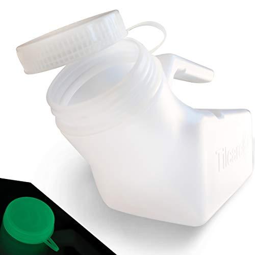 Tilcare Urinalflasche für Herren, 1000 ml, dicke Kunststoffflasche mit Schraubdeckel für Herren, auslaufsichere Urinkammer, tragbare Urinflaschen für Herren, Reise-Urinsammelbehälter, 1 Stück