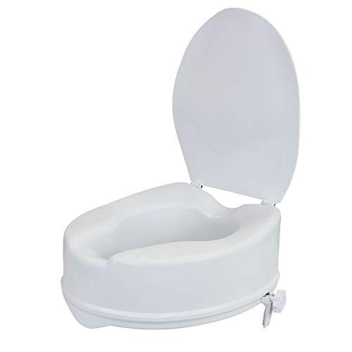 flexilife Toilettensitzerhöhung mit Deckel (15 cm) - WC Sitzerhöhung Toilettenaufsatz für Senioren Toilettenerhöhung*