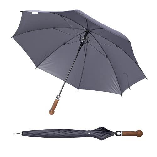 Sicherheitsschirm gratis Videokurs   Verteidigungs Abwehr Regenschirm   Selbstverteidigung (Knauf Nussbaum, 92cm)