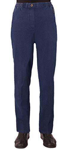 Eitex Damen Seniorenhose Schlupfhose mit Gummizug Kurzgröße ideal für pflegebedürftige Omas einfach anzuziehen und super pflegeleicht (36/38, Jeans hell)