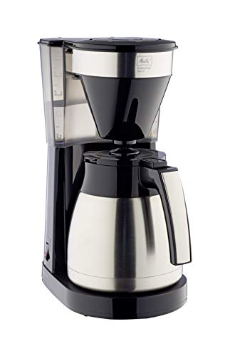 Melitta 1023-10 EasyTop Therm Steel Filterkaffeemaschine, Edelstahl, Kunststoff schwarz