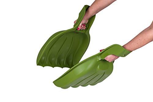 KREHER XXL Laubgreifer, Laubpicker 'BEAR PAW' - zwei XL Schaufelhände aus robustem Kunststoff zur Erleichterung der Gartenarbeit! Maße BxTxH in cm: 39 x 7 x 52 cm !