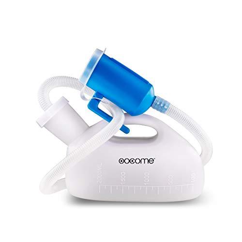 Urinflasche für Männer, OOCOME 2000ml Urinal Bottle Wiederverwendbare Portable Hohe Kapazität Verdickung Männlich Urinal für alten Mann Urin Sammler Urinal System mit 51'(1,3M) Rohr