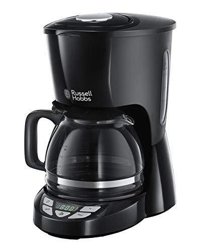 Russell Hobbs Digitale Kaffeemaschine Textures+, programmierbarer Timer, bis 10 Tassen, 1,25l Glaskanne, Warmhalteplatte, Abschaltautomatik, Tropf-Stopp, 975W, Filterkaffeemaschine 22620-56