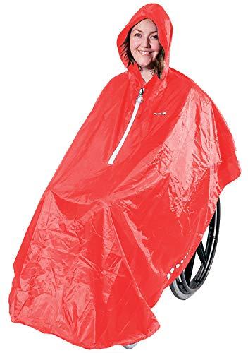 GOTITA – Der Poncho für den Rollstuhl – Der vielfältig einsetzbare Regenschutz für den Rollstuhl – einfache Handhabung, leichtes An- und Ausziehen – italienisches Design (Koralle)