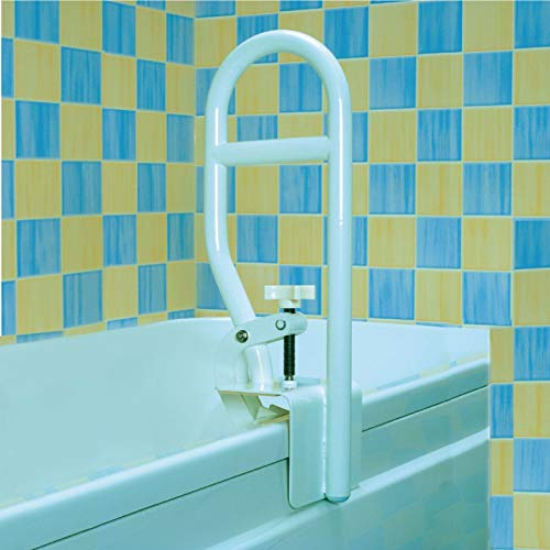 Homecraft Sturdy Bath Tub Grab Bar, Clamp On Rail for Bathtub, Elderly Living Assist Tool for Shower or Bath, At Home Bathroom Safety Attachment Handle for Obese, Disabled, Injured, or Post-Op