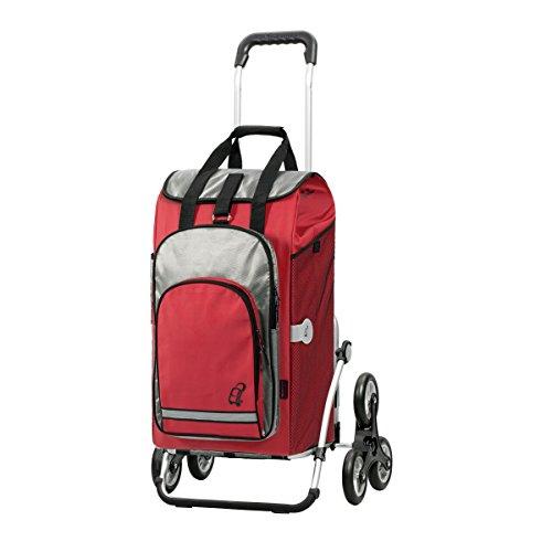 Andersen Shopper Royal Treppensteiger und 60 Liter Einkaufstasche Hydro rot mit Kühlfach