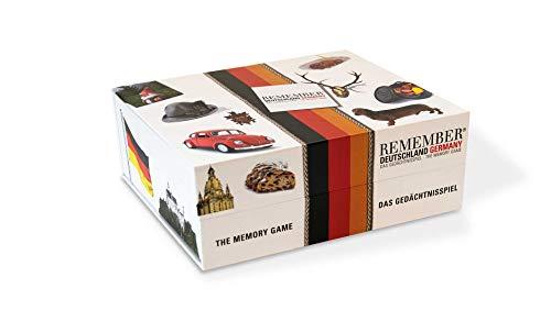 Remember Memory Gedächtnisspiel Deutschland – 44 typisch deutsche Bildpaare (88 Karten)