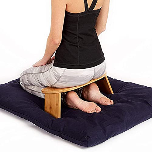 FZYE Faltbare Meditationsbank Tragbarer Kniestuhl - aus Bambus mit Reisetasche