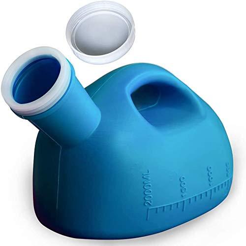 Urinflasche für Damen und Herren, Urinal für männer und frauen pinkeln frauen mit Rohr Geeignet für Krankenhaus, Outdoor, Auto, Camping -2000ml
