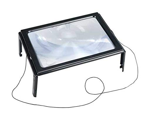 WENKO Leselupe LED Lupe mit LED Handlupe mit Beleuchtung Tischlupe mit