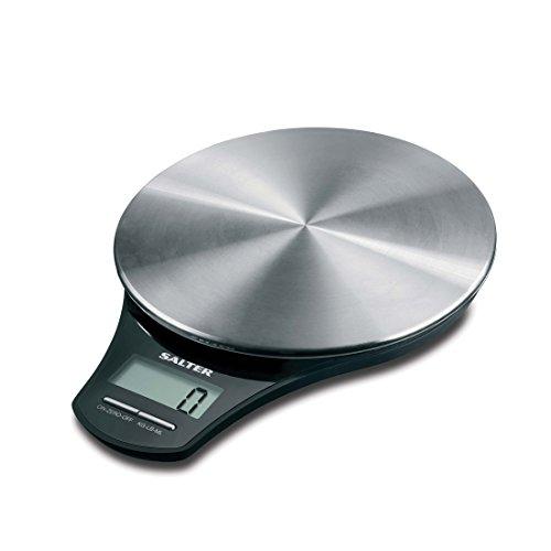 Salter Digitale Küchenwaage mit großem LCD-Display - Digitale Waage / Haushaltswaage mit Tara-Funktion aus moderner & hygienischer Edelstahl-Oberfläche zum Backen und Kochen - 15 Jahre Garantie