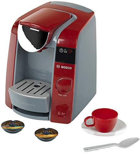 Theo Klein 9543 Bosch Tassimo Kaffeemaschine I Mit Wassereinfüllmöglichkeit und Wasserdurchlauf mit Sound I Inklusive Espresso-Set I Maße: 20 cm x 16 cm x 20 cm I Spielzeug für Kinder ab 3 Jahren
