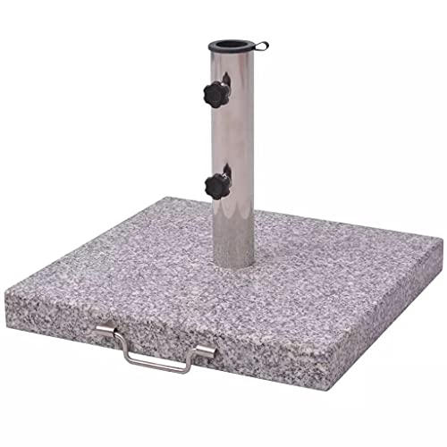vidaXL Schirmständer Sonnenschirmständer Sonnenschirmhalter 2 Adapter für Mastdurchmesser 38 und 48 mm Polierter Granit und Edelstahl 45cm 29kg