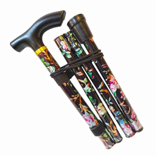 Gehstock, einfach höhenverstellbar, zusammenklappbar, ausziehbar, leicht, flexibel und langlebig, Gehhilfe, Mobilitätshilfe, zusammenklappbarer Gehstock*
