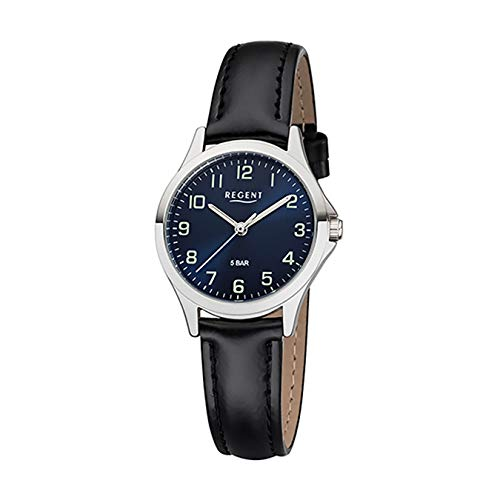 REGENT Damen-Armbanduhr analog Quarz Lederband W-0064