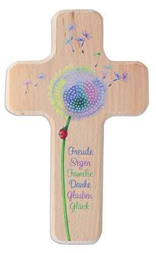 Kinderholzkreuz Pusteblume