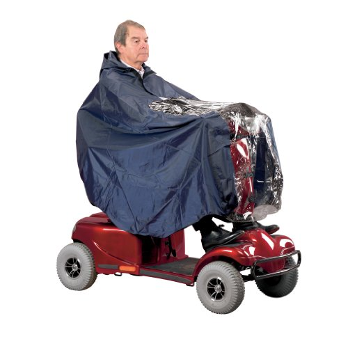 Homecraft Universal Scooter Cape, Lightweight and Waterproof Cape, Protects User & Scooter from Rain, Poncho Includes Hood & Clear Panel for Visibility of Controls, (Eligible for VAT relief in the UK)