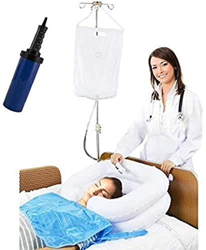 Nachttisch-Duschsystem, aufblasbares Nachttisch-Shampoo-Becken-Set für ältere Betten, einfach, behinderte, Schwangerschaft, Bettlägerige (Set von 6)*