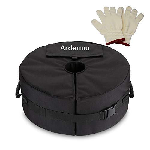 Ardermu Patio Beach Runder Regenschirm Base Weight Bag - Zeltbodengewicht Tasche für Canopy Sand Ergonomischer Ständer Hinzufügen von Gewicht für alle Outdoor-Sonnenschirme oder Fahnenmasten