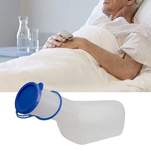 Lunata Urinflasche PP für Männer (milchig) mit Verschluss, 1 Liter Fassungsvermögen, autoklavierbar