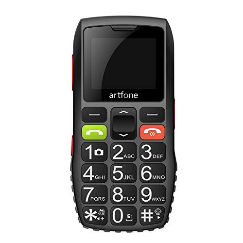 artfone C1 Seniorenhandy ohne Vertrag   Dual SIM Handy mit Notruftaste   Rentner Handy große Tasten   2G GSM Handy   Großtastenhandy mit Ladegerät und Kamera 1400 mAh Akku Lange Standby-Zeit