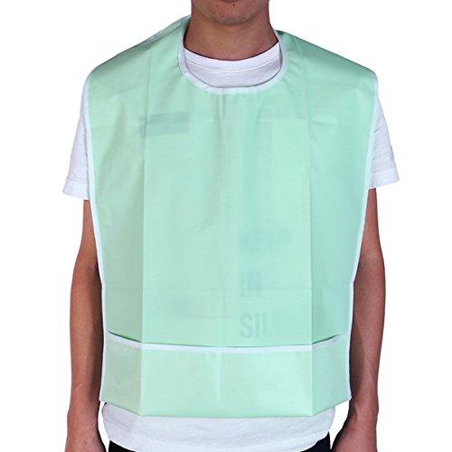 Healifty 1 Stk. Waschbares Lätzchen für Erwachsene Langes wasserdichtes Lätzchen Wiederverwendbares Fütterungslätzchen für Senioren mit Kleidung für Senioren mit Behinderung (hellgrün)