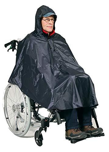 HeRo24 Regenponcho für den Rollstuhl ebenso für das Fahrrad oder als Regenschutz