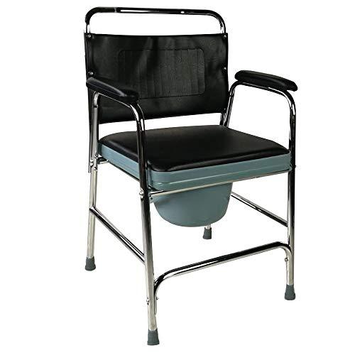 Mobiclinic, Toilettenstuhl, Velero, Europäische Marke, Toilettensitz für Ältere und Behinderte, WC Sitz, Rutschfest, mit Deckel, gepolsterte Armlehnen und Sitz, Leichtgewicht