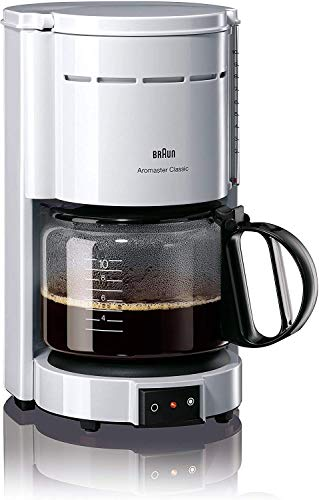 Braun Household KF 47/1 weiß Filterkaffeemaschine, Edelstahl, 1.2 liters