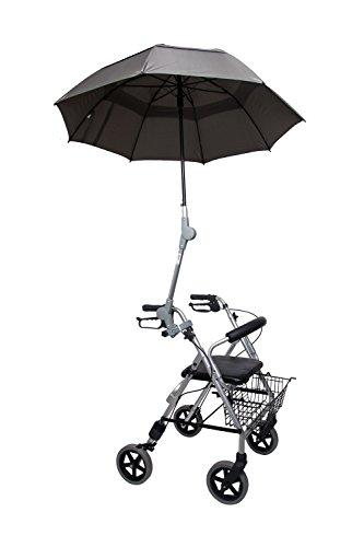 Rollatorschirm Regenschirm Sonnenschirm Schirm inkl. Befestigung oliv