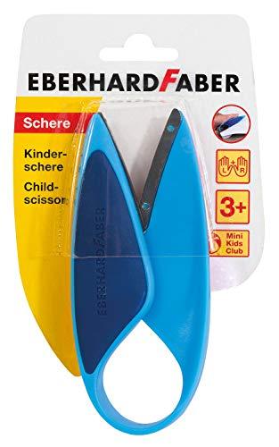 Eberhard Faber 579951 - Kinderschere für Linkshänder und Rechtshänder, optimal zum Schneiden und Basteln mit Kleinkindern, blau