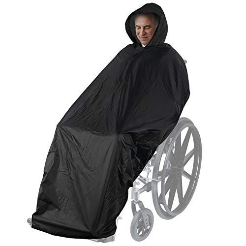 Anyoo Wasserdichte Poncho Abdeckung für Rollstühle Leichter Regenponcho Cape Shield mit Gummibändern bietet Trockenschutz für Rollstühle