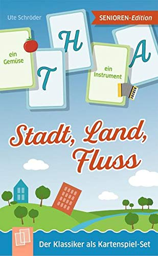 Stadt, Land, Fluss - Senioren-Edition: Der Klassiker als Kartenspiel-Set