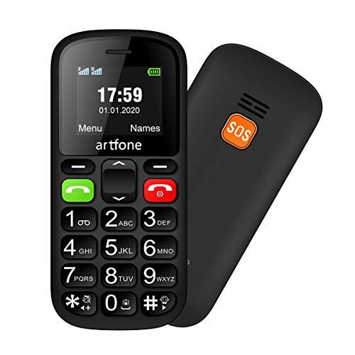 Artfone CS181 Seniorenhandy ohne Vertrag   Mobiltelefon mit großen Tasten   Dual SIM Handy mit Notruftaste   Rentner Handy gro?e Tasten   GSM Handy   Inklusive Ladegerät